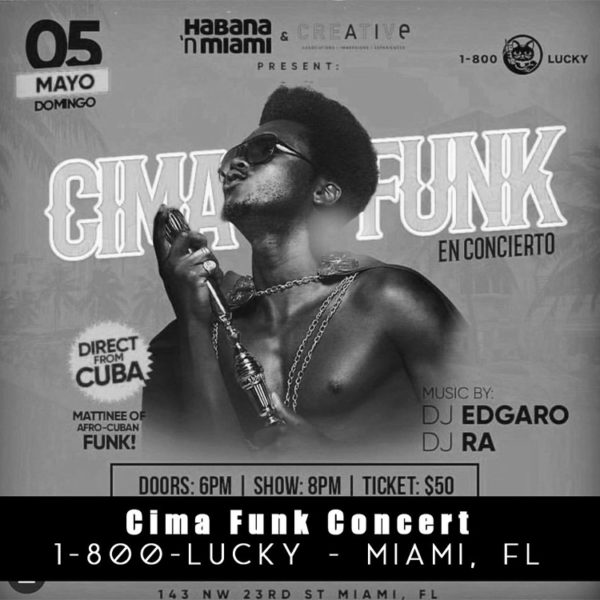 Gray AIE Creative Projects - Cima Funk Concert poster