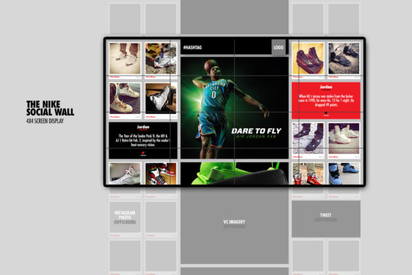 Nike social wall content